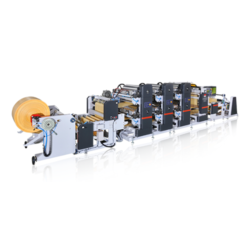 Reel to Reel Flexographic Printing Line FSRP-6C (No Cylinder Changing)