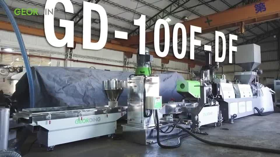 Force Feeding Single Stage Die-Face Cutting Recycling& Pelletizing Machine-GD-100F-DF